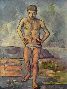 Bather, painting by Cezanne