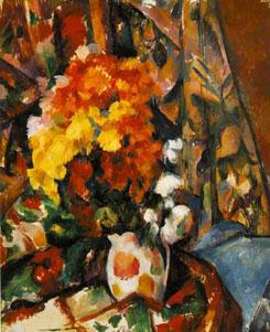 Chrysanthemums painting by Cezanne
