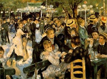 renoir painting of the Ball at the Moulin de la Galette