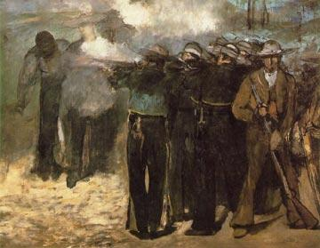 Execution of Maximilian, painting by Manet