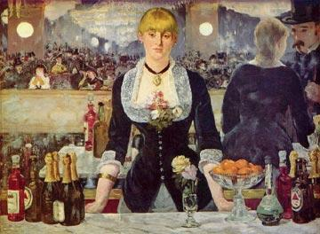bar at the Folies bergeres, painting by Manet