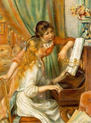 Renoir painting of Girls at the Piano