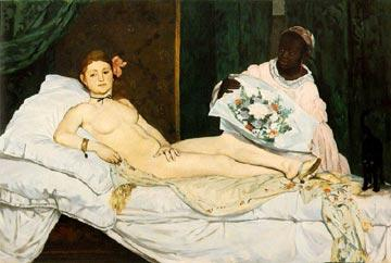 Olympia, painting by Manet
