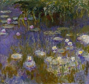 Monet water lilies at giverny