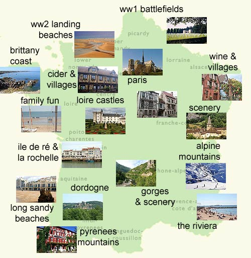 Map Of Areas Of France.Where To Visit In France And Popular Regions For A First Time Visitor