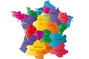 small map of France