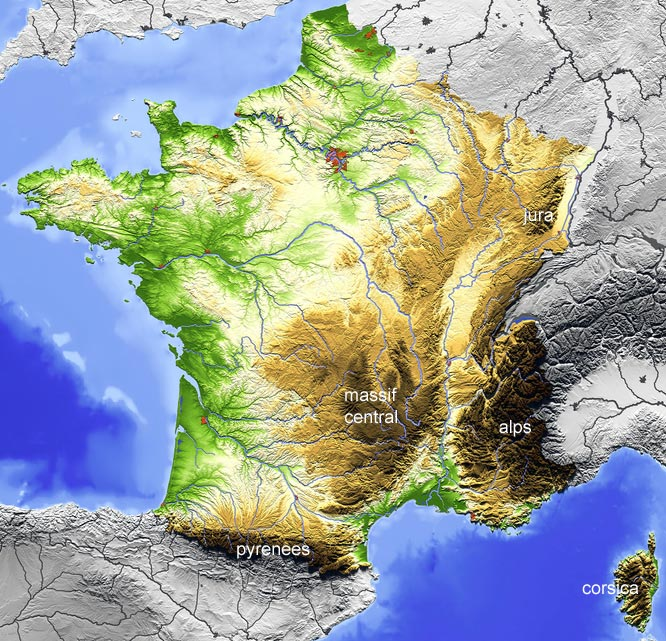 Map Of Regions Of France.France Map Explore Places And Attractions On A Detailed Map Of France