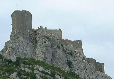 queribus castle, a cathar stronghold