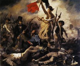 Liberty (Marianne) Leading the   People, by Eugene Delacroix, 1830