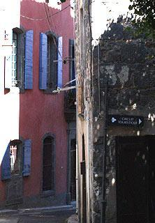 Backstreet in Agde historic centre
