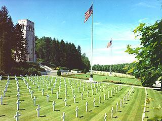 American WW1 cemetery in the Aisne region of Picardy