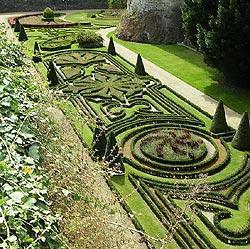 French style gardens in Angers