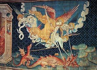 Apocalypse tapestry in Chateau d'Angers