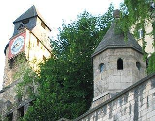 Clocktower in ramparts at Bar-le-Duc