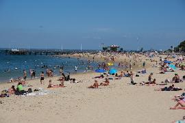 Arcachon town beach