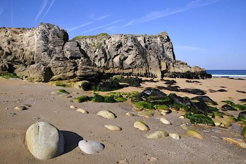 beach in Quiberon, Brittany