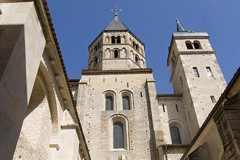 The Abbey at Cluny, one of the best known French National Monuments