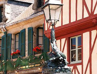 Maisons à colombages à Concarneau