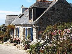 Bretagne traditionnelle maison sur la presqu'île de Crozon