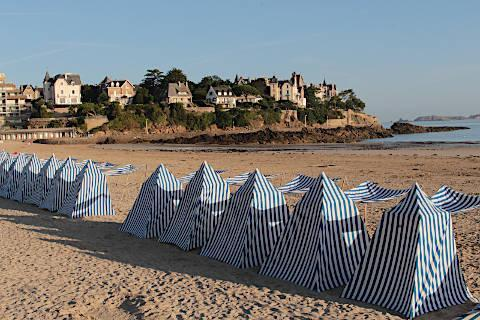beach in Dinard, Brittany