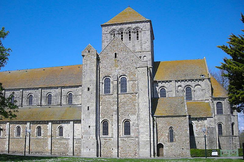 Photo of Lessay abbey