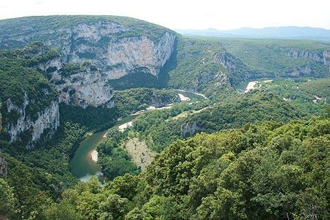 Photo de Gorges de l'Ardeche en Massif Central (Rhone-Alpes region)