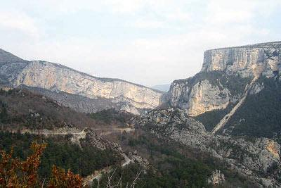 scenic highlight in the Gorges du Verdon