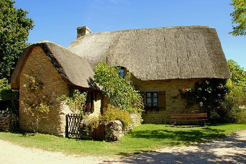 maison à Kerhinet, une partie du centre d'accueil de parc naturel régional de Brière