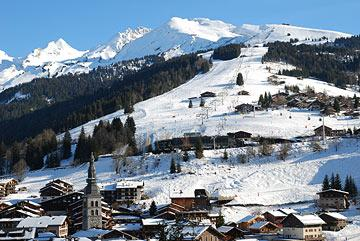 ski slopes in La Clusaz