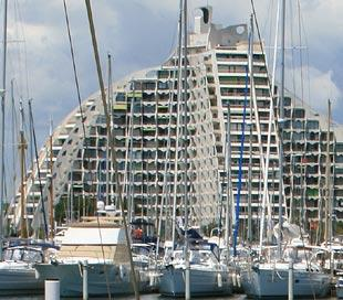 Harbour and pyramid in La Grande-Motte
