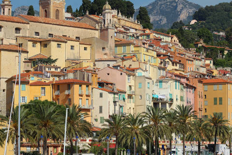 Photo of Menton in Cote d'Azur (Provence region)
