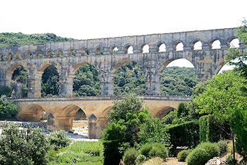 view of the Pont du Gard