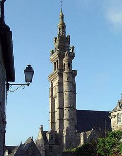 clocher sur l'église de Notre-Dame de Croaz-Batz à Roscoff