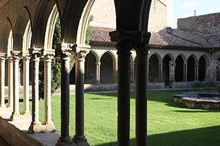 Cloisters in Abbey of Saint-Hilaire