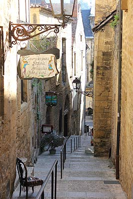 Street in Sarlat old town