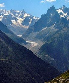 Mer de Glace and Savoy Alps scenery
