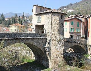 Ancient toll bridge in Sospel