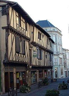 medieval houses in centre of St Jean d'Angely