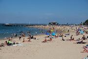 La plage de la ville d'Arcachon