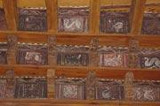 Decorative cornices in frejus cathedral cloisters