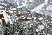 Meribel, ski resort in the Rhone-Alpes