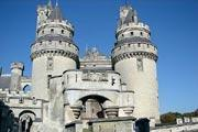 Pierrefonds castle, national monument in Picardy in Picardy