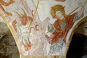 Frescoes in Tavant church