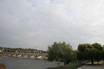 view along the river in Tours