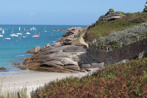 beach in Tregastel, Brittany