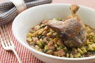 Confit de canard, french recipe