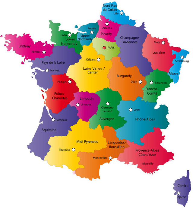 France Map: Explore places and attractions on a detailed Map of France