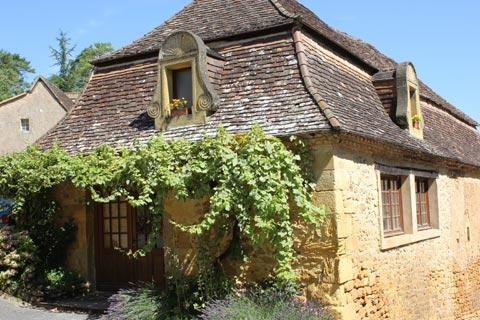 Traditional stone house of the Dordogne