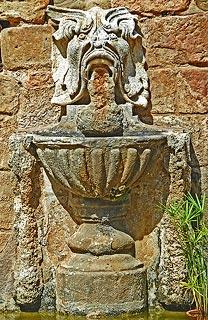 Fountain at Fontfroide abbey