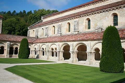 The cloisters at Fontenay Abbey room